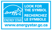 Look for the Energy Star symbol